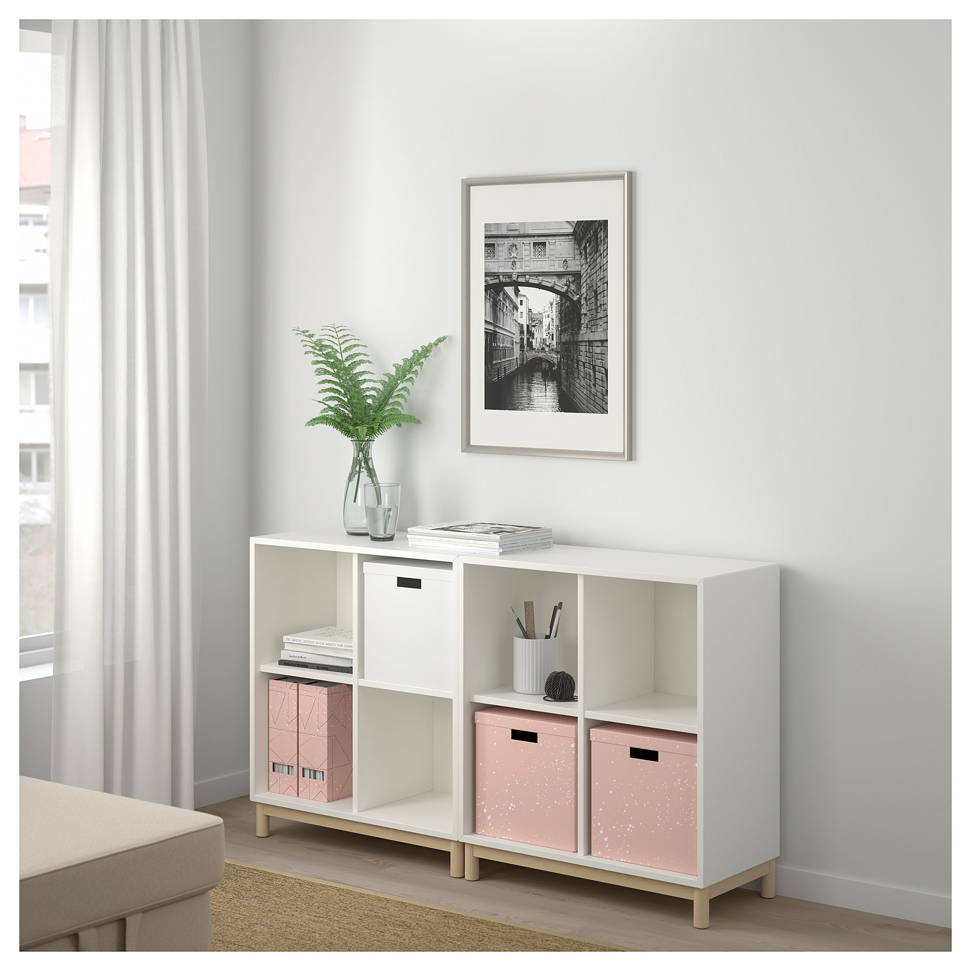 Best Ikea Tjena Storage Box With Lid Pink In 2019 Products 400 x 300