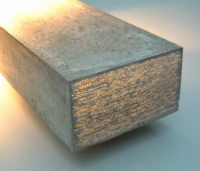 Concrete block prototip translucent concrete material for Hormigon traslucido