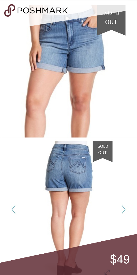 471dadbe45c Melissa McCarthy Seven7 Shorts (Plus Size) Melissa McCarthy Seven7  Girlfriend Roll Up Short (Plus Size) Color  Madison Bu Rolled hems add  custom character ...