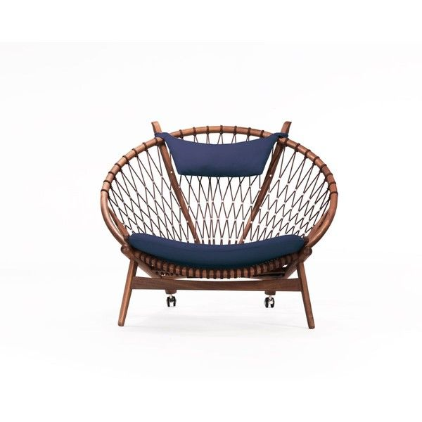 Rove Concepts Circle Chair   Twilight American Walnut Reproduction ($2,295)  ❤ Liked On Polyvore