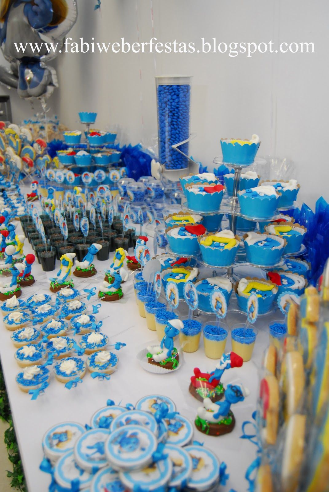 Pin By Diane Parnell On Smurf Party 1st Birthday Party Themes