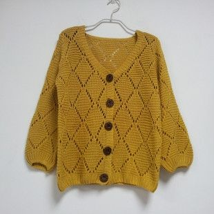 Fashionable Women Dimond Hollow Knit Cardigans on Buytrends.com, only price $15.75