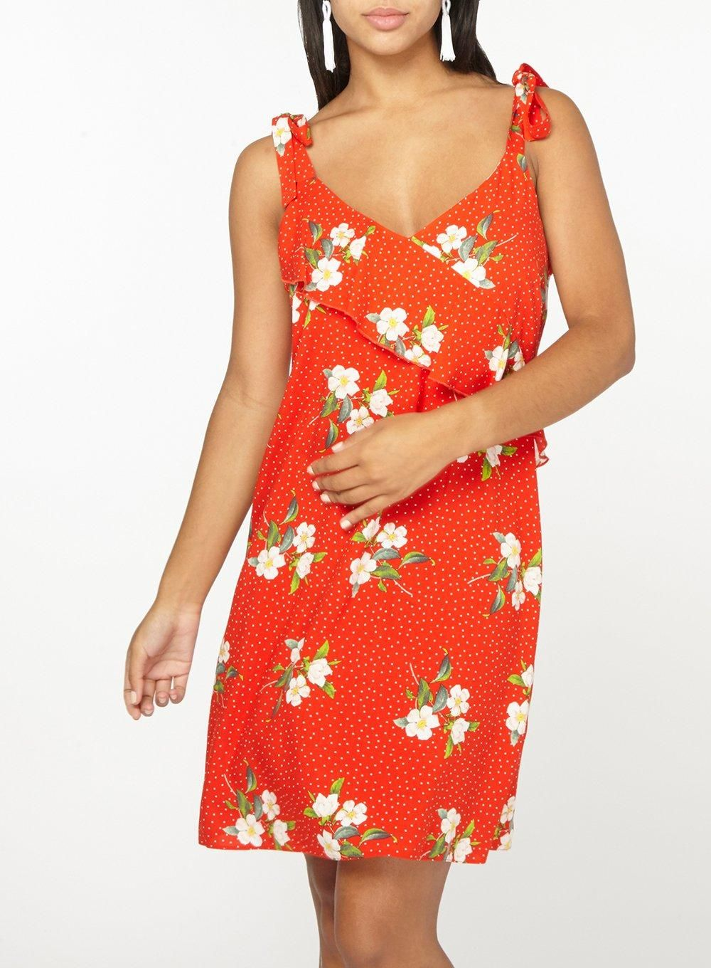 d812a9a387c Red Floral Tie Sundress - New In Clothing - New In - Dorothy Perkins