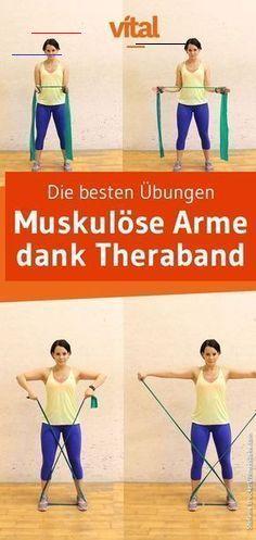 Theraband Übungen für die Arme Definierte Arme dank Theraband - entdecke die besten Übungen! #fitnes...
