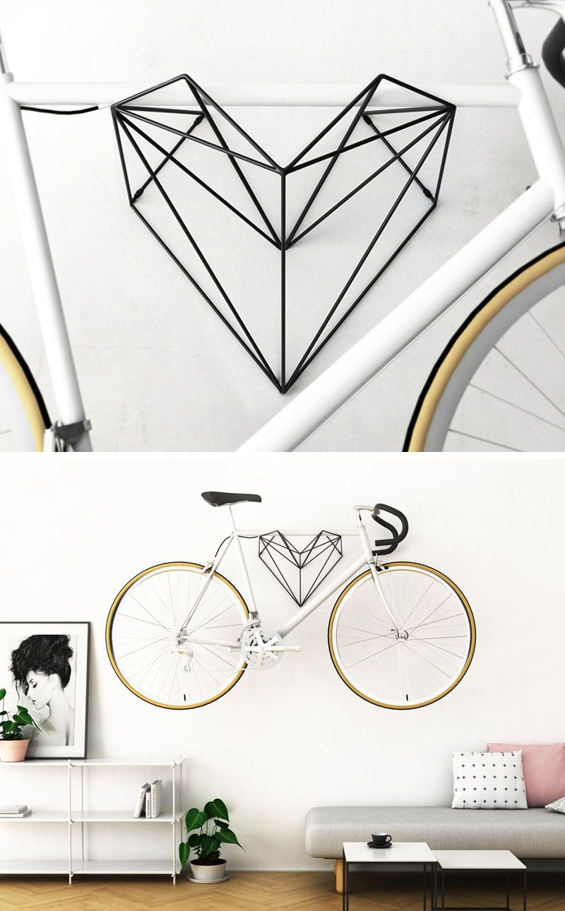 A Heart Shaped Bike Hanger Designed For Bike Lovers With Images
