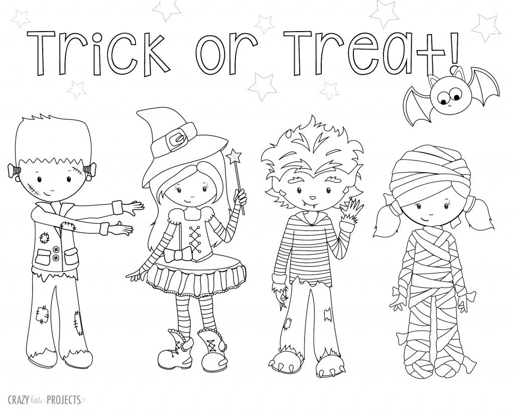 Cute Free Printable Halloween Coloring Pages
