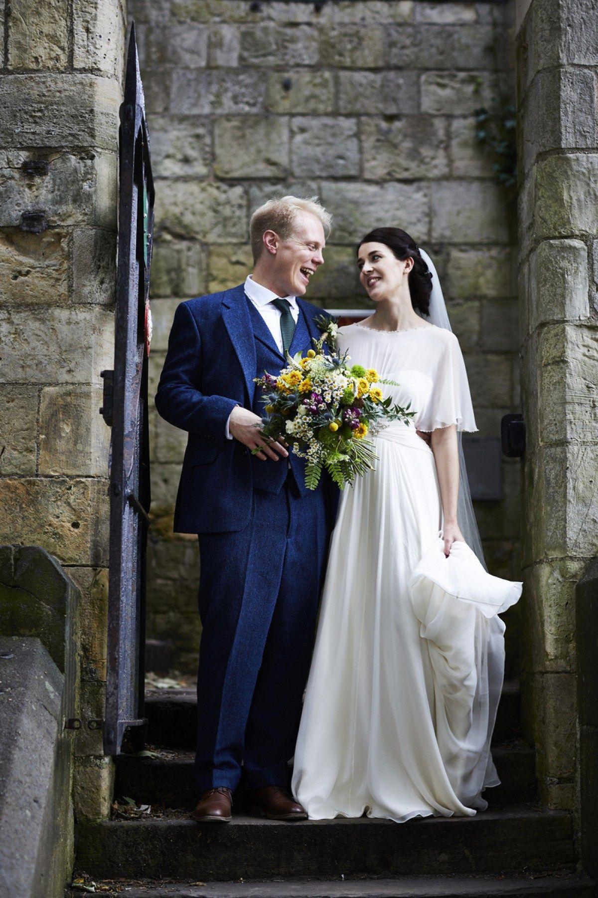 Woodland wedding dress  Jenny Packhamus uBettyu for a colourful and flower filled Yorkshire