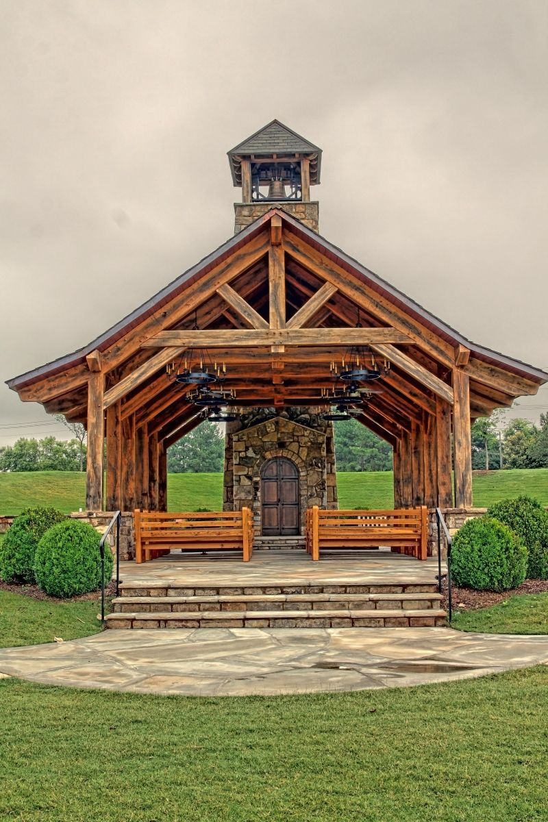 Solid oak timber frame The Founders Chapel