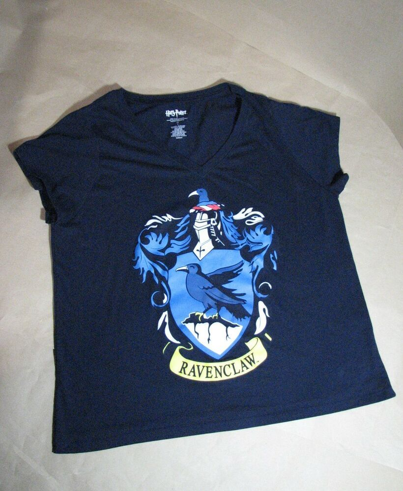 7db7eff2 Harry Potter Women V Neck T-Shirt Ravenclaw Size 3 (s16) Blue #HarryPotter # TShirt