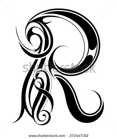 Gothic Style Capital Letter R