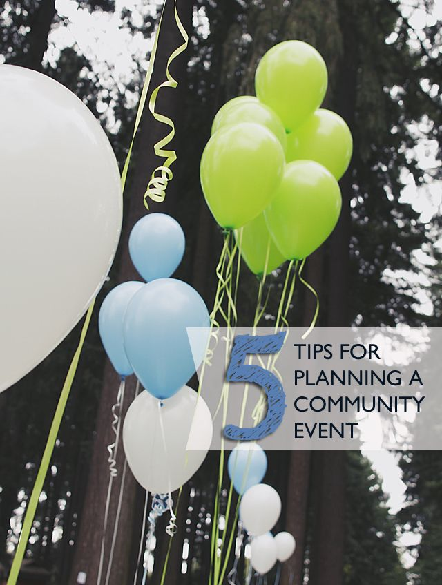 5 tips for planning a community event   My Posts: A Well Crafted ...