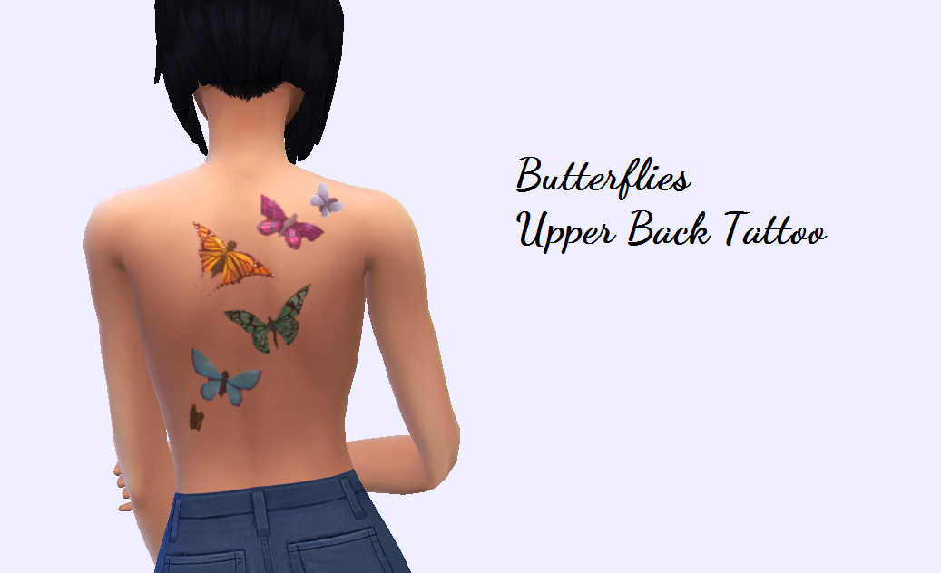 "Christmasfear: "" Just A Simple Tattoo Of Some Butterflies"