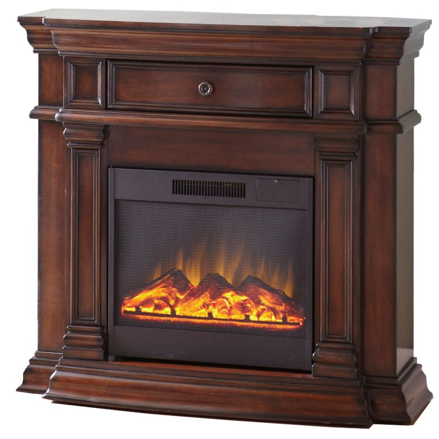 Shop Style Selections 42 In Walnut Corner Electric Fireplace At Lowes Com Corner Electric Fireplace Wood Burning Fireplace Inserts Electric Fireplace