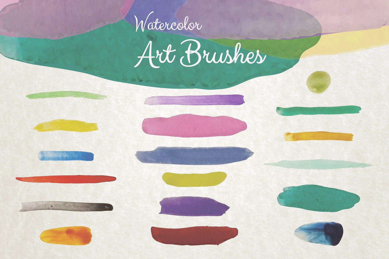 Watercolor Illustrator Art Brushes Painted Hand Paper Beautiful
