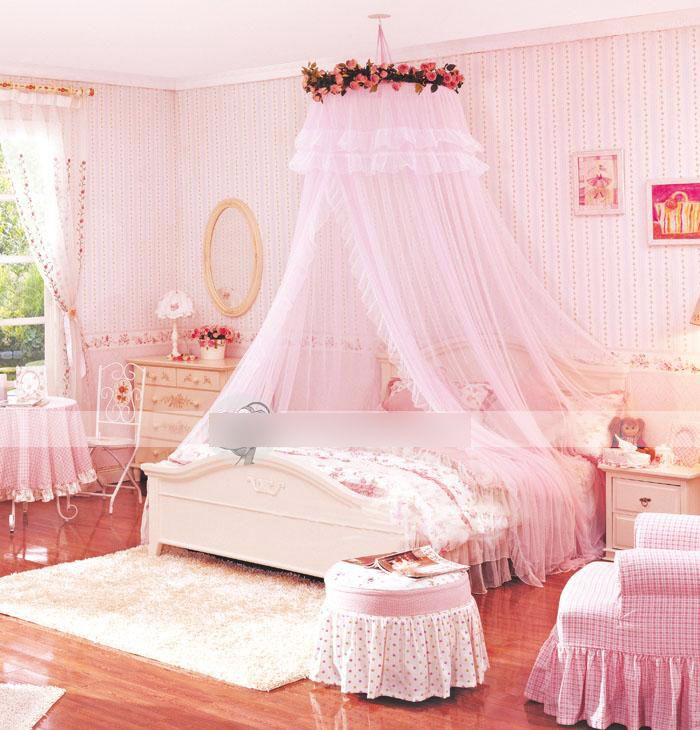 Pink Bedroom Canopy Tulle Girls Bed Canopy Girl Beds Canopy
