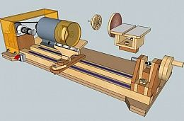 3-in-1 Woodworking Lathe-Sander-Grinder/Sharpener How to incorporate this into a…