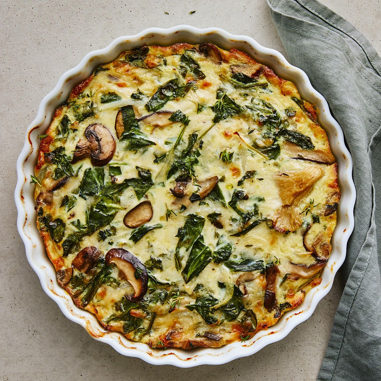 Spinach Mushroom Quiche Recipe Vegetarian Quiche Vegetarian Quiche Recipes Quiche Recipes