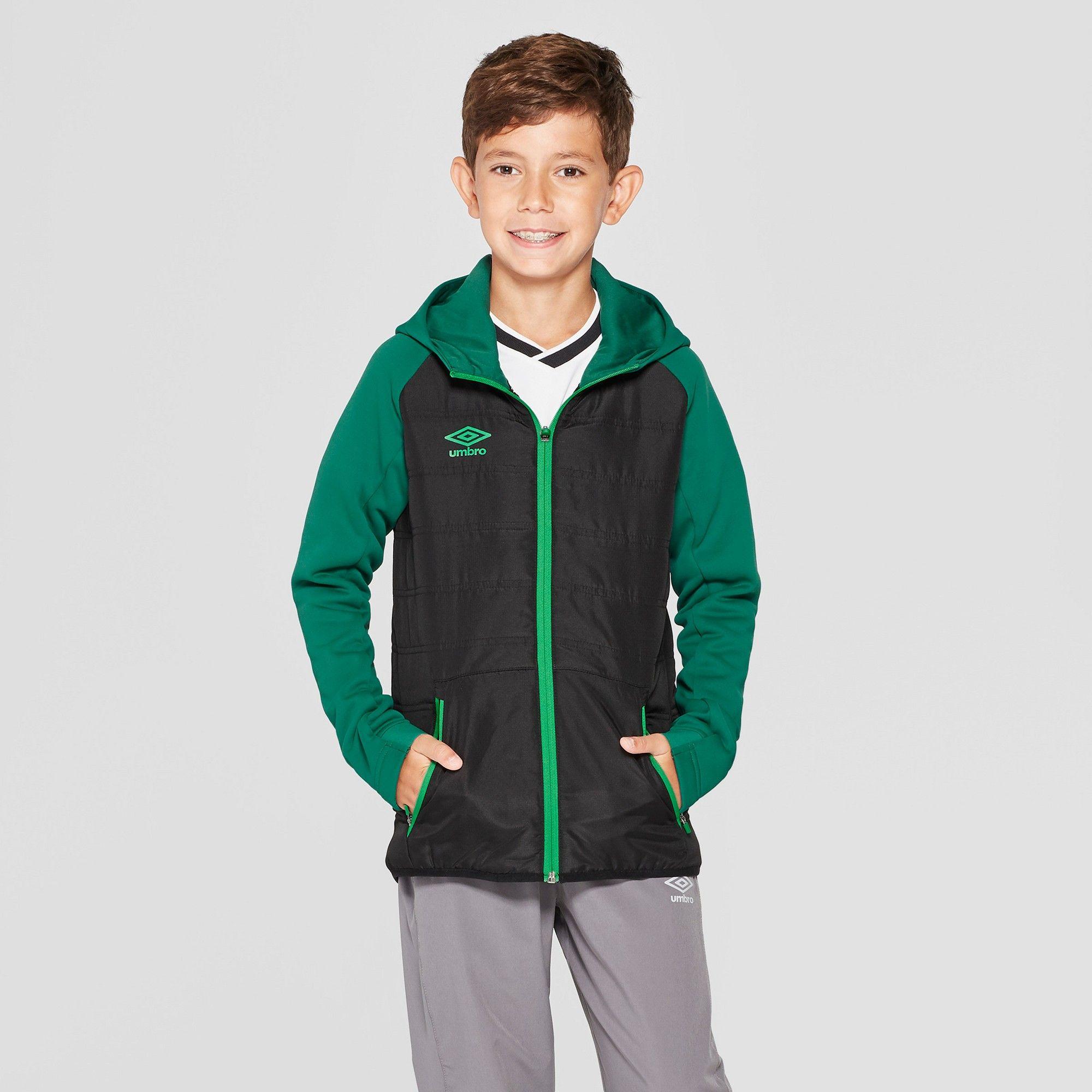 Umbro Boys' Insulated Full Zip Fleece Jacket Black XL