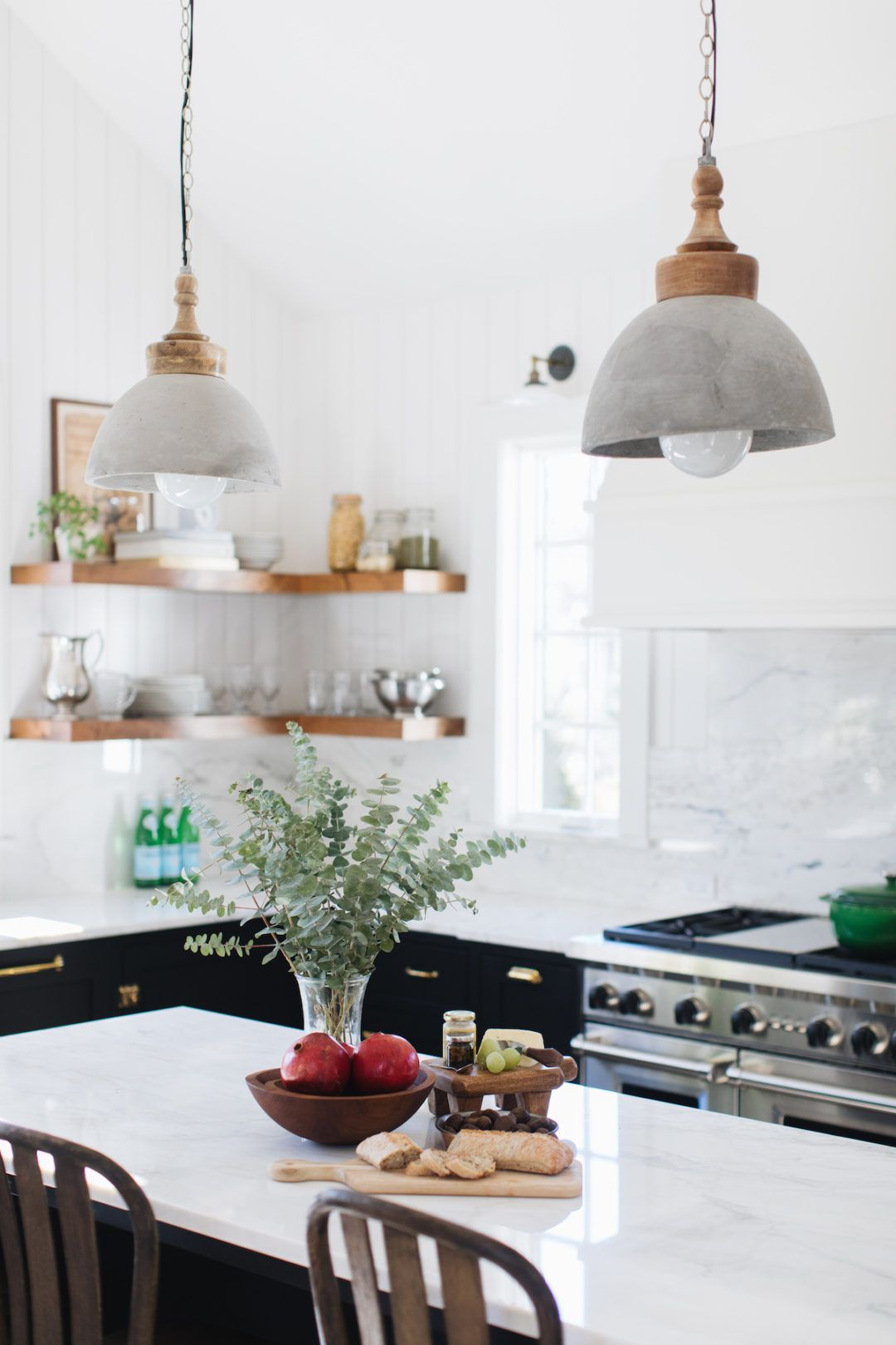 An Updated Home Inspired By The English Countryside Lark Linen Kitchen Table Lighting Farmhouse Kitchen Decor Dome Pendant Lighting