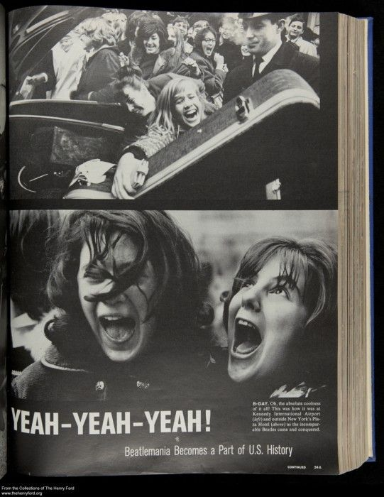 "It's the Beatles! It wasn't hard to select the theme for February's curator Pic of the Month - the Beatles conquered America 50 years ago today, as pictured in this February 21, 1964 ""Life"" magazine article. See more from our digital collections over on our blog."