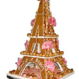 Pi ce mont e gateau mariage original choux tour eiffel fleur seine paris roma - Prix montee tour eiffel ...