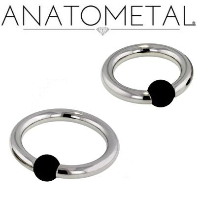 Anatometal Stainless Steel Captive Bead Ring With Rubber Bead Rubber Bead Beaded Rings Anatometal