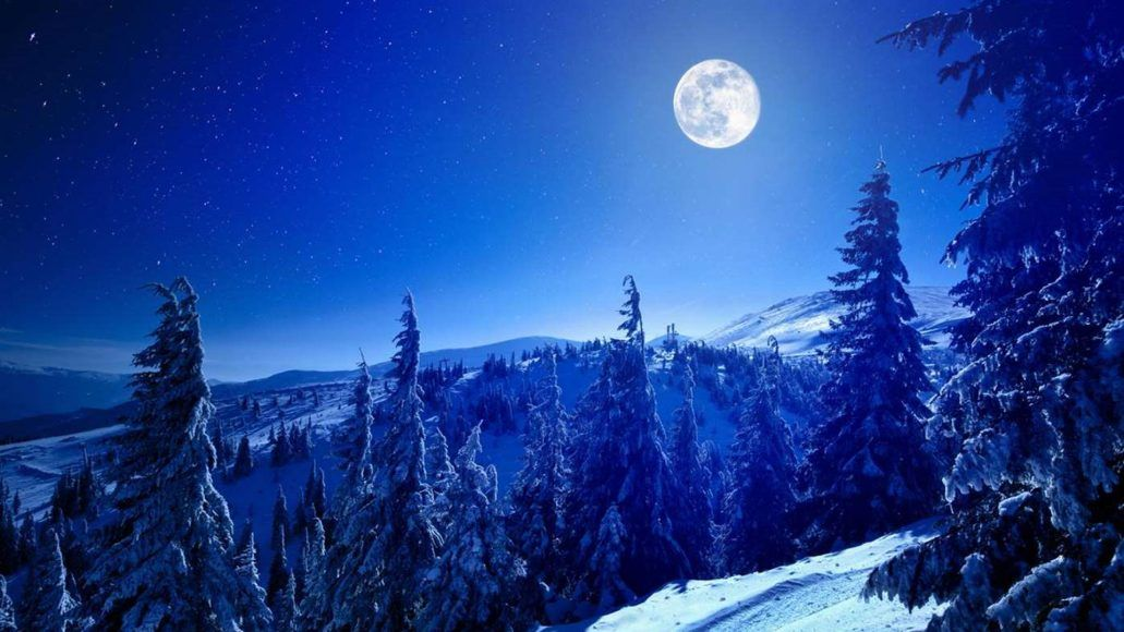 Winter Windows 10 Themes Added To The Microsoft Store Just In Time For Christmas Winter Moon Cold Moon Winter Forest
