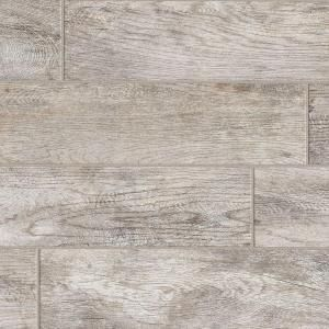 MARAZZI Montagna Dapple Gray 6 in. x 24 in. Porcelain Floor and Wall ...