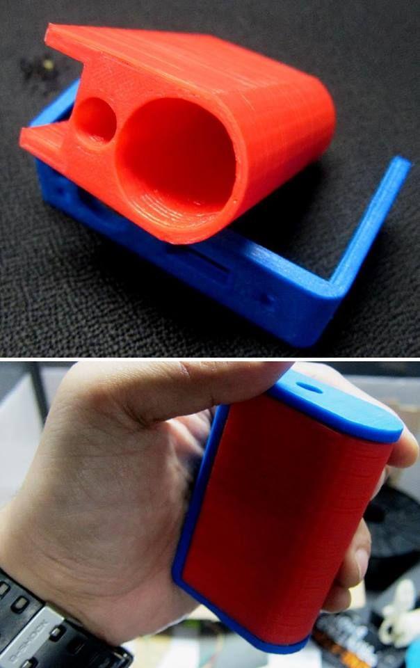 3D printed box mod body (vaporizer/e-cig) designed by Atmos