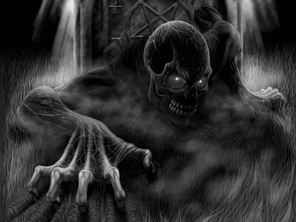 Skull Coming Up Dark Gothic Art Gothic Wallpaper Gothic Art Dark gothic creepy wallpaper