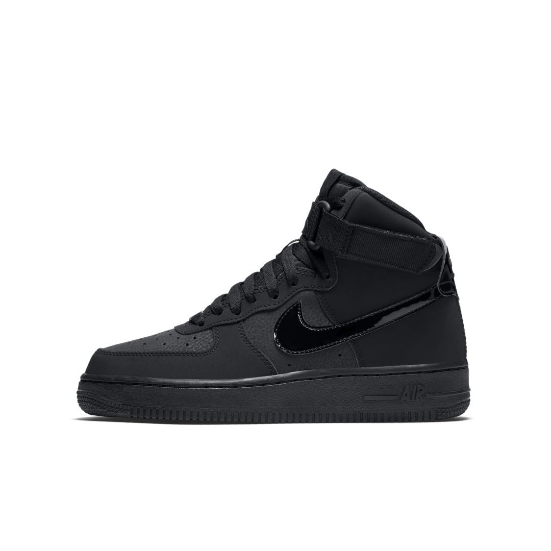 best website e38cf 8663a Nike Air Force 1 High Big Kids  Shoe Size 4.5Y (Black)