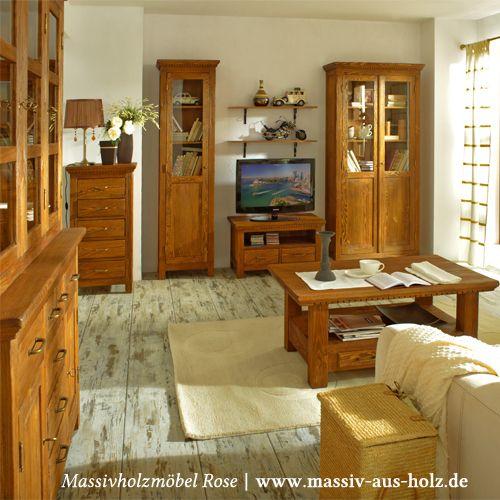 Echte Holzmöbel sind Bares wert - stets warm und gemütlich, www - wohnzimmer gemutlich warm