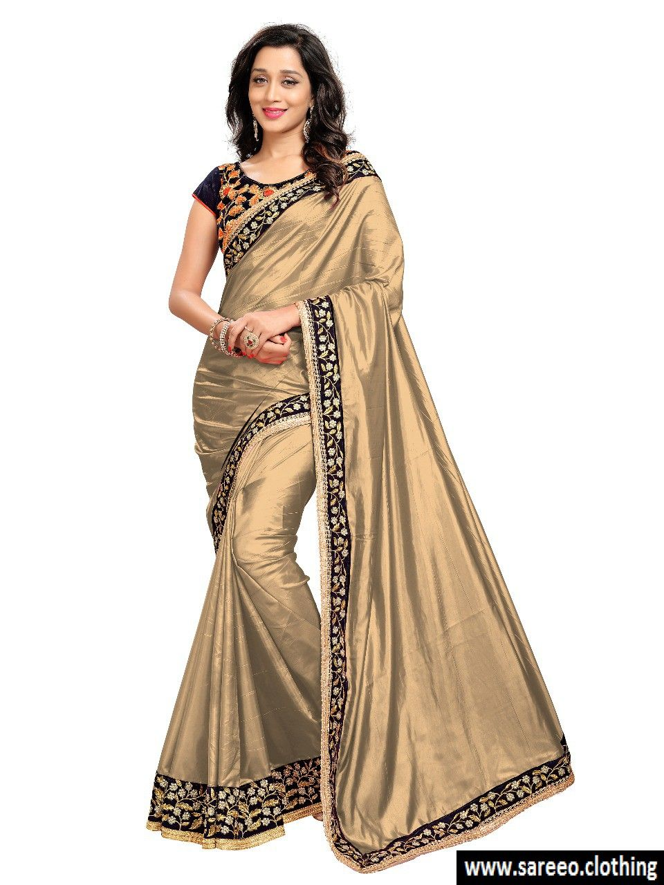 5b6d2c9e59b97  ♀ ♀Exclusive Cream Shining Paper Silk Embroidered Dazzling Saree♀ ♀ . . .  Want Discount  Comment Here and Get Personal Discount Code Worldwide Free  ...