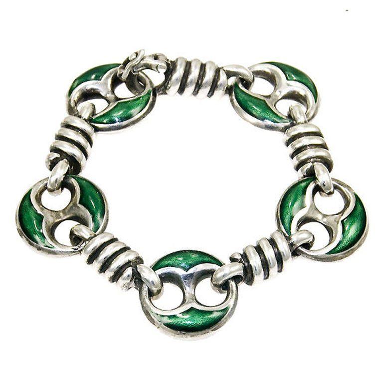 9d85f9c3d 1960's Gucci Sterling and Enamel bracelet | Jewelry | Bracelets ...