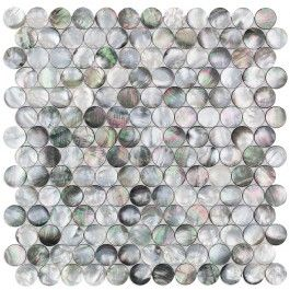 Deep Sea Black Pearl Penny Round Tile Penny Round Tiles