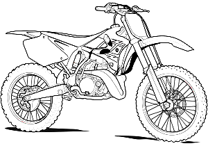 Comment Dessiner Une Moto Cross Bike Drawing Dirt Bike Tattoo Bike Tattoos