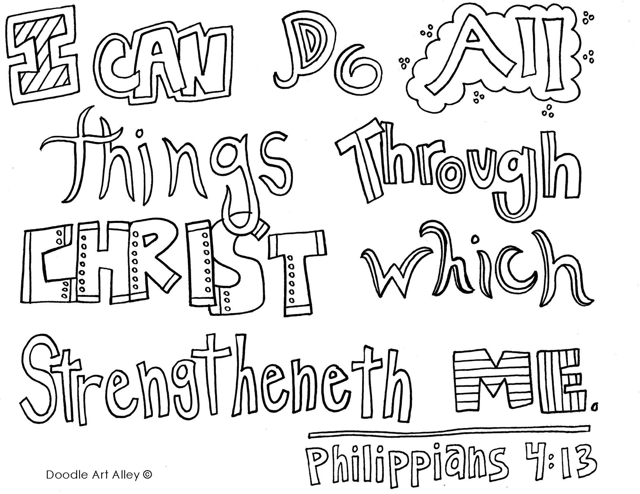 Christian Doodle Art Printables