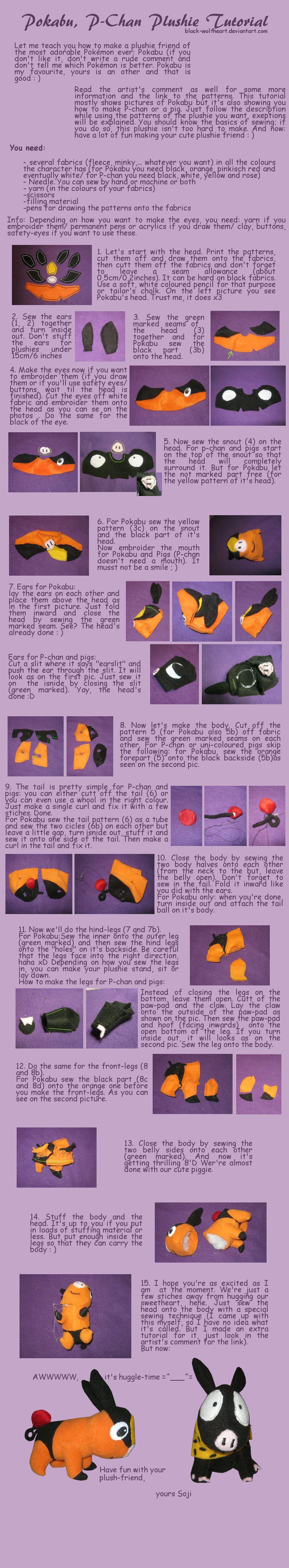 Tepig P Chan Pig Plushie Tutorial By Black Wolfheart On Deviantart Patterns Linked On Page Pig Plushie Plushies Kawaii Crafts [ 4328 x 799 Pixel ]