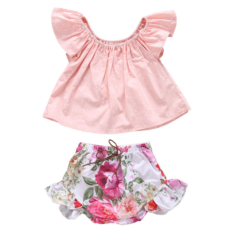 76da214aae91 Toddler Kids Baby Girls Clothes Set Children Clothing Girl ...