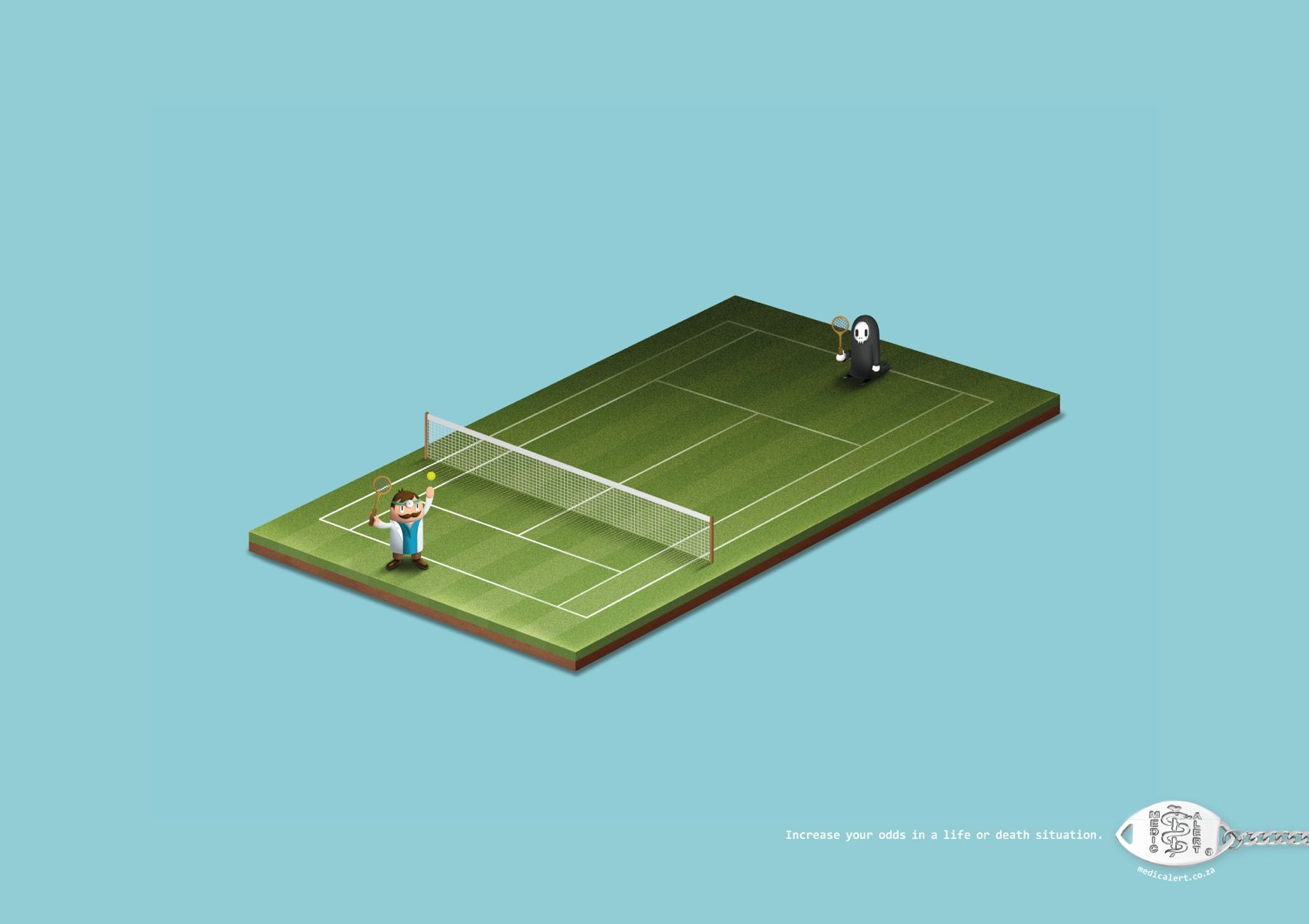 MedicAlert: Tennis. | Creative advertising, Print ads, Print