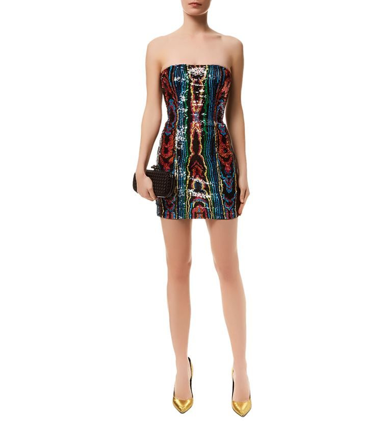 Fashion · Women: Sequin Dresses Balmain Sequined Strapless Mini Dress