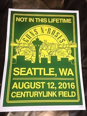 Guns N Roses Seattle Poster Lithograph 2016 121/300 GNR Not in this Lifetime https://t.co/mPFsZY5pZP https://t.co/Nj9Up9c1ow