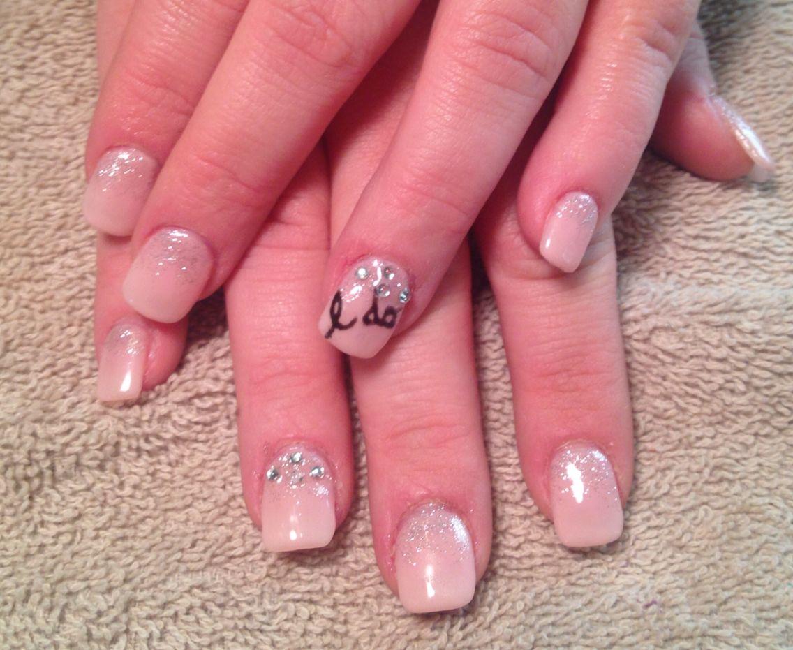 Wedding Nails I Do Bubble Bath Blush Pink Nail Art