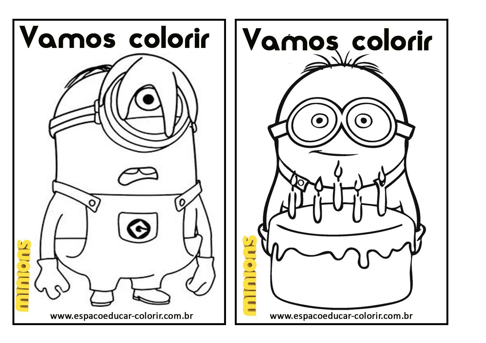 Espaco Educar Desenhos Para Colorir Livro De Colorir Dos Minions