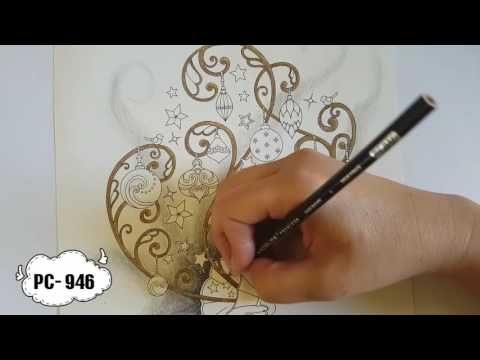 johannas christmas colouring tutorial pt1 youtube