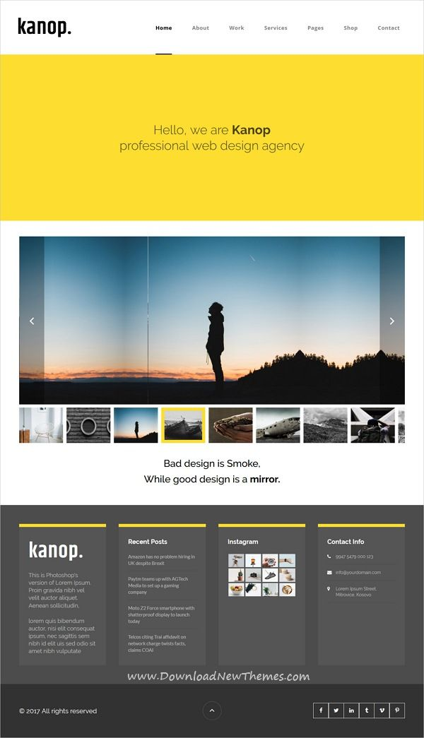 Kanop - Photography & Personal Blog HTML Template | Template
