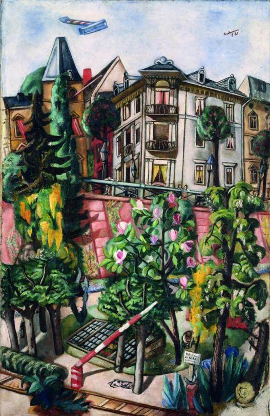 Max Beckmann (German, 1884-1950), Das Nizza in Frankfurt am Main, 1921. Oil on canvas, 100.5 x 65 cm. Kunstmuseum Basel.