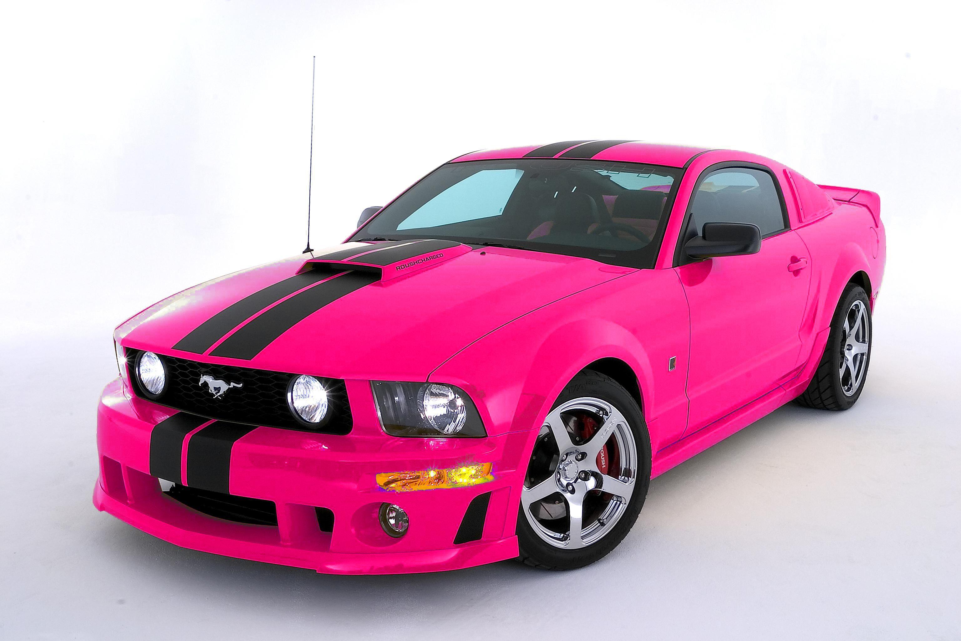 Pink mustang uhhhhhhhh yeah