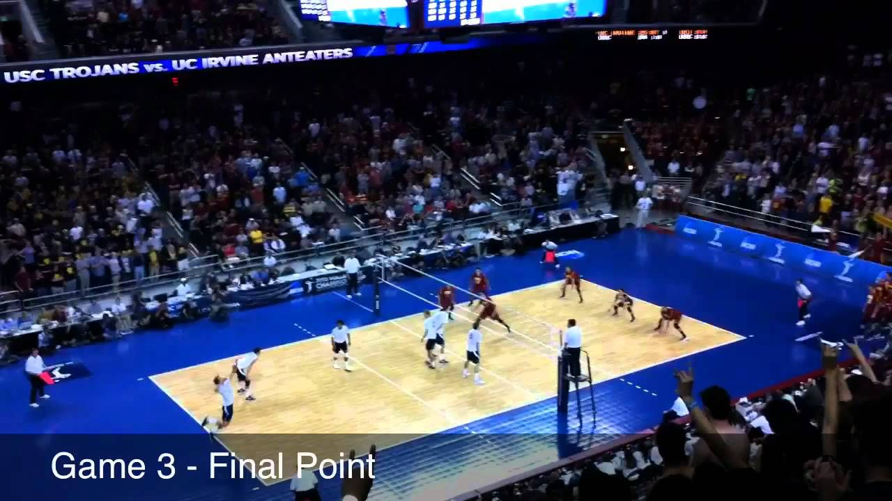 Uci Men S Volleyball Wins The 2011 12 Ncaa Title By Sweeping Usc To Win 3rd Title In 6 Years Final Points Of Set 2 3 Mens Volleyball Usc Ncaa Championship