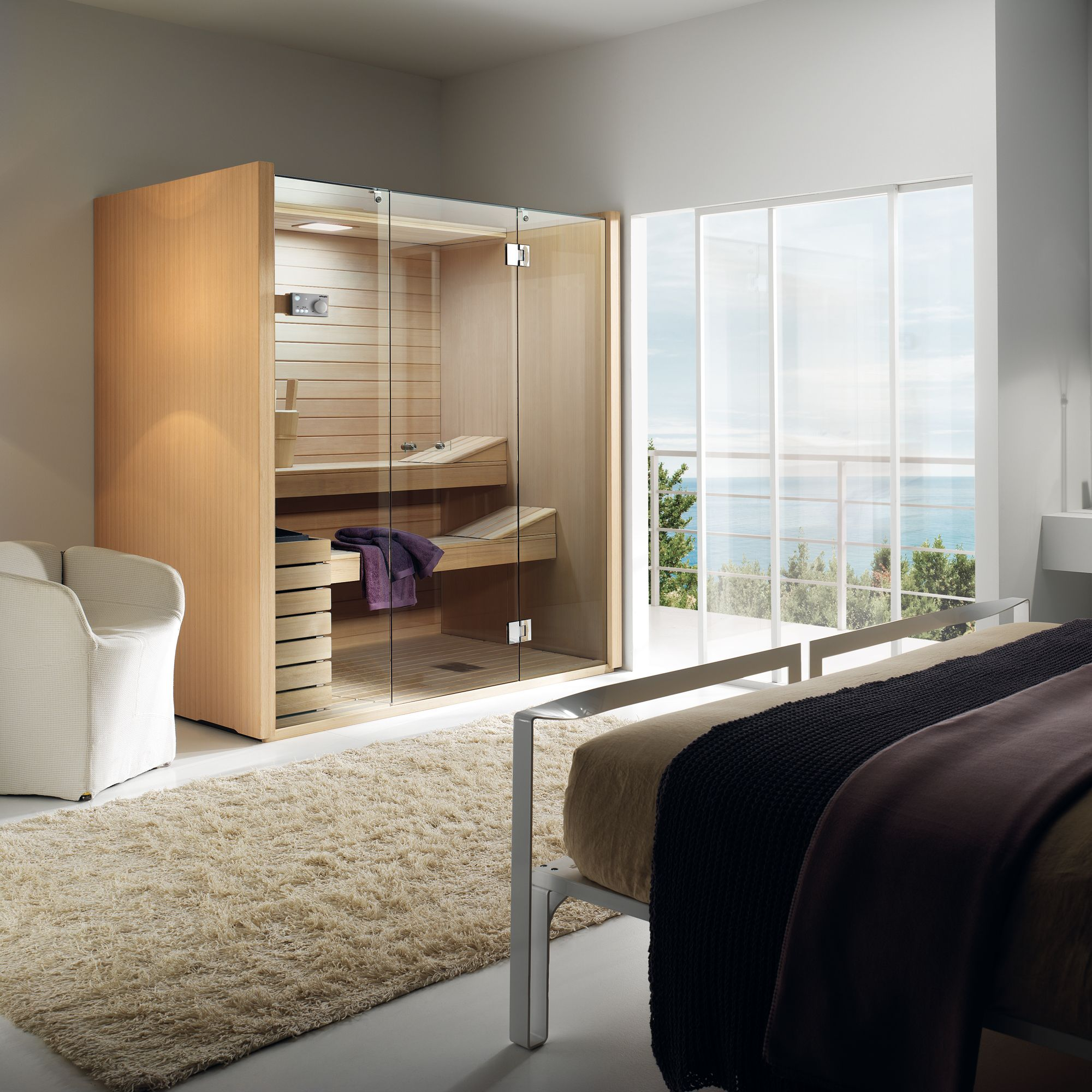 minisauna im schlafzimmer mini sauna in der wohnung. Black Bedroom Furniture Sets. Home Design Ideas